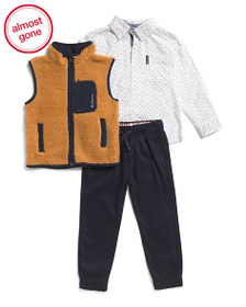 BEN SHERMAN Little Boys 3pc Sweater Vest And Jogge