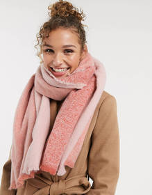 Oasis soft cozy scarf in coral