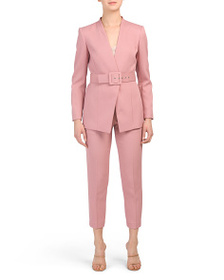 TAHARI BY ASL Pink Pant Suit Collection