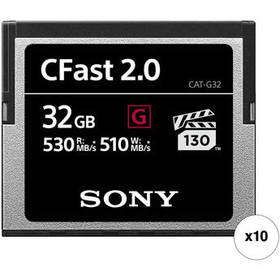 Sony 32GB CFast 2.0 G Series Memory Card (10-Pack)