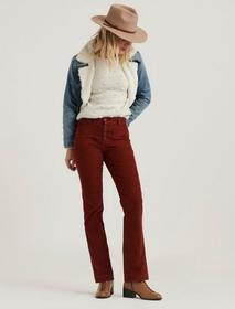 Lucky Brand Mid Rise Ava Boot Corduroy Jean