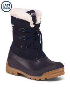 ARMANI JUNIOR Made In Italy Insulated Snow Boots (