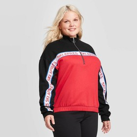Women's Plus Size Apres Ski Collared 1/4 Zip Sweat