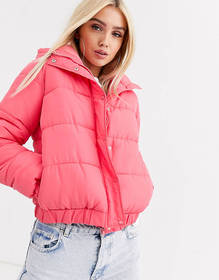 Missguided padded jacket in pink