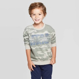 Toddler Boys' Star Wars Long Sleeve T-Shirt - Camo
