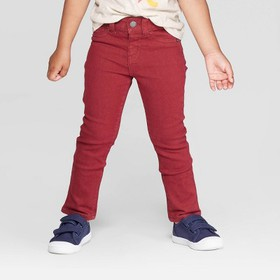 Toddler Girls' Denim Jeggings - Cat & Jack™ Maroon