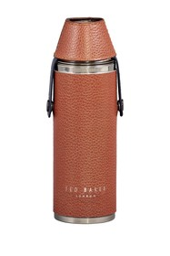 Ted Baker London Brown Ted's World Hip Flask and S