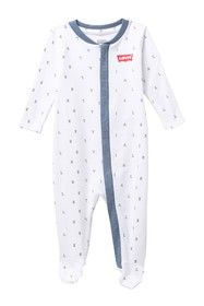 Levi's Long Sleeve AOP Footie (Baby Boys)