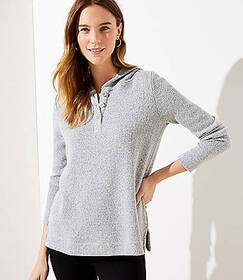 Button Hoodie Top