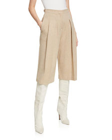 Valentino Cropped Wool Culotte Pants