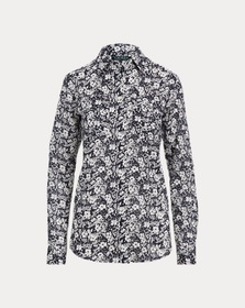 [object Object] Floral Cotton Voile Shirt