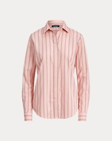 [object Object] Striped Cotton Shirt