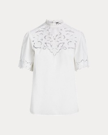 [object Object] Embroidered Cotton Shirt