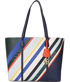 Tory Burch Perry Balloon Stripe Triple-Compartment