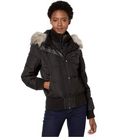 Vince Camuto Bomber with Faux Fur Hood V29790