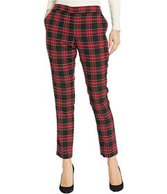 Vince Camuto Holiday Tartan Front Zip Ankle Pants