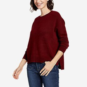 Women's Easy Crewneck Dolman-Sleeve Sweater - Soli