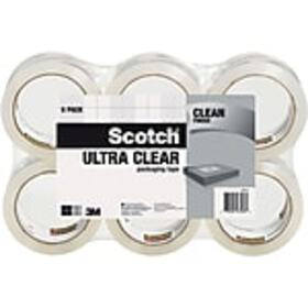 Scotch® Ultra Clear Mailing Packaging Tape, 1.88 x