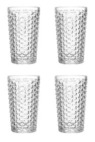 JAY IMPORTS Clear Bistro Weave Hi Ball Glass - Set