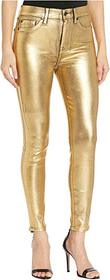 7 For All Mankind High-Waist Ankle Skinny Faux Poc