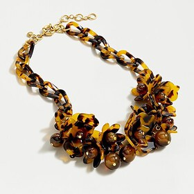 J. Crew Acetate blooming necklace in tortoise