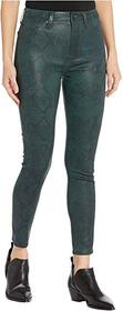 7 For All Mankind High-Waist Ankle Skinny in Coate