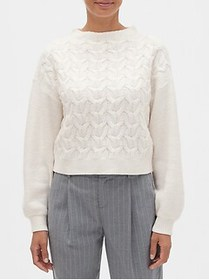 Factory Cable Mock-Neck Sweater