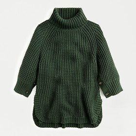 J. Crew Turtleneck poncho with buttons