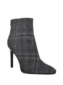 Plaid Glitter-Upper Bootie