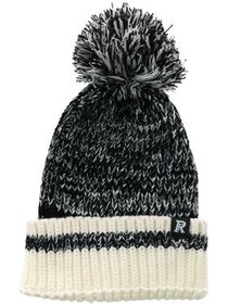 CTM® Knitted Marled Beanie Cuff Cap with Pom