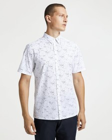 Printed Cotton Standard-Fit Shirt