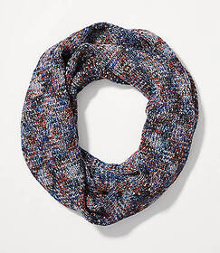Shimmer Marled Infinity Scarf