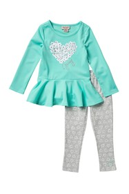 Juicy Couture Heart Tunic & Leggings Set (Toddler