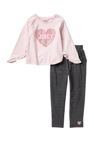 Juicy Couture Long Sleeve Heart Top & Pants (Toddl
