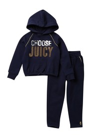 Juicy Couture Embellished Hooded Pullover & Pants