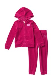 Juicy Couture Velour Hoodie & Joggers Set (Toddler