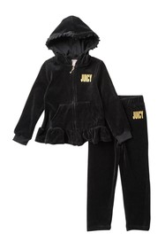 Juicy Couture Ruffle Hoodie Set (Toddler Girls)