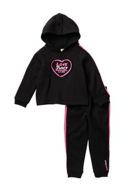 Juicy Couture Fleece Hoodie & Joggers 2-Piece Set