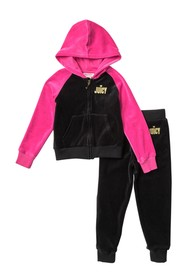 Juicy Couture Raglan Sleeve Velour Set (Little Gir