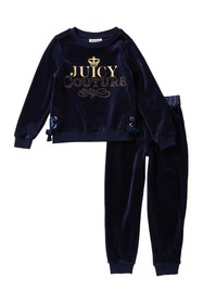 Juicy Couture Studded Velour Sweatshirt & Joggers