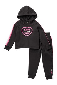 Juicy Couture Fleece Hooded Pullover Set (Little G