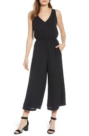 Gibson Printed Woven Wide Leg Jumpsuit