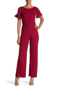 Vanity Room Short Ruffle Sleeve Jumpsuit