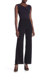 Vanity Room Colorblock Cowl Neck Jumpsuit