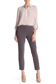 Adrianna Papell Solid Kate Bi-Stretch Fitted Pants