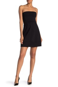 Vanity Room Strapless Pleated Mini Dress