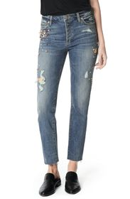 Joe's Jeans Smith Embellished High Waist Raw Hem A