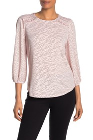 Adrianna Papell 3/4 Sleeve Crew Neck Top
