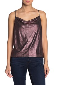 Vanity Room Sleeveless V-Neck Metallic Blouse