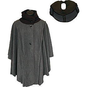 LollyZip Wrap n' Roll Travel Cape and Neck Pillow